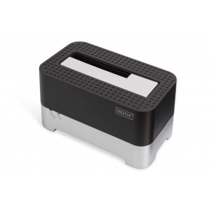 Digitus USB 3.0 Single SATA HDD/SDD Docking Station for 2.5 and 3.5 Harddisks, color black/grey